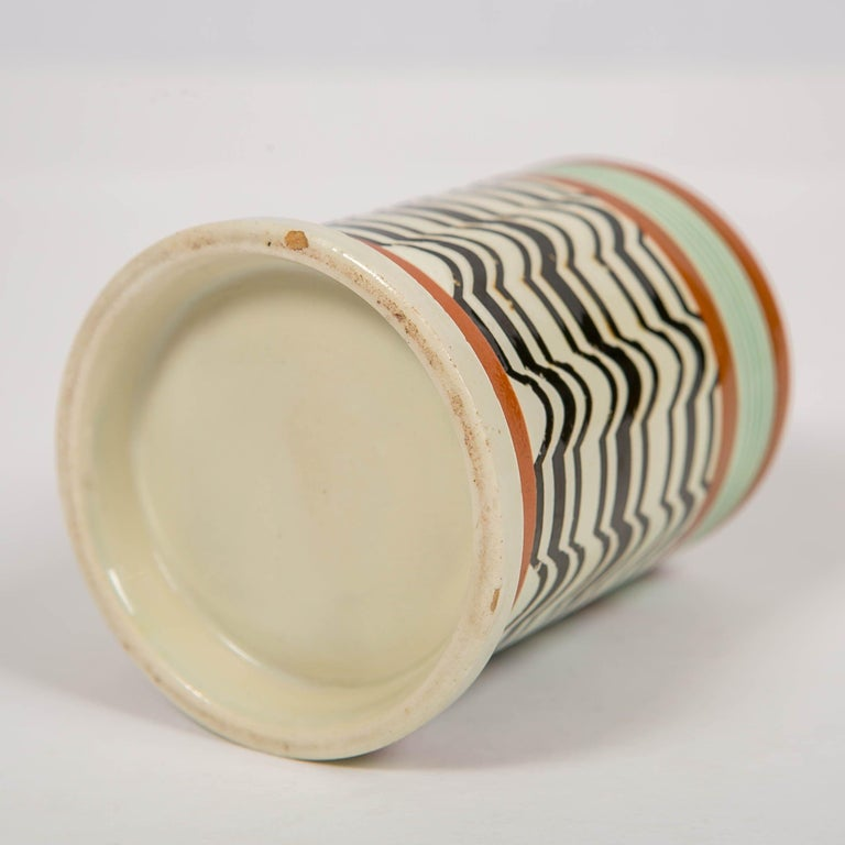 Mochaware Mug Made by J.& R Clews at the Cobridge Factory, England, circa 1820 For Sale 4