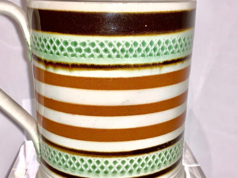 A Mochaware mug, England, circa 1810