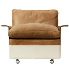 Model 620 Fiberglass and Leather Lounge Chair by Dieter Rams