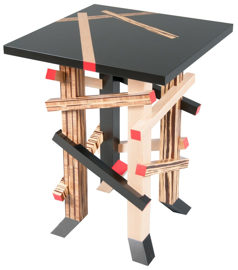 De Stijl Modernist, Gerrit Rietveld Inspired, Sculptural Occasional or Side Table For Sale