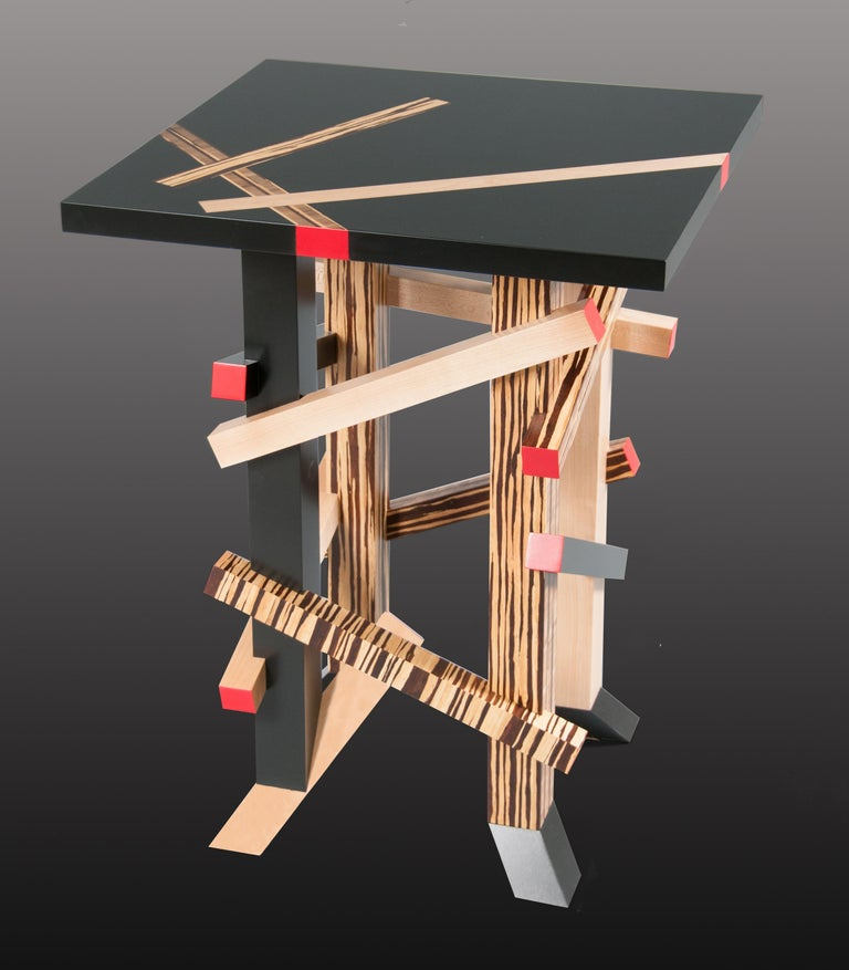 American Modernist, Gerrit Rietveld Inspired, Sculptural Occasional or Side Table For Sale