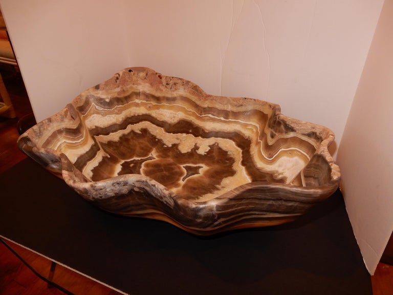 Monumental Artisan Crafted Onyx Bowl or Vessel 1