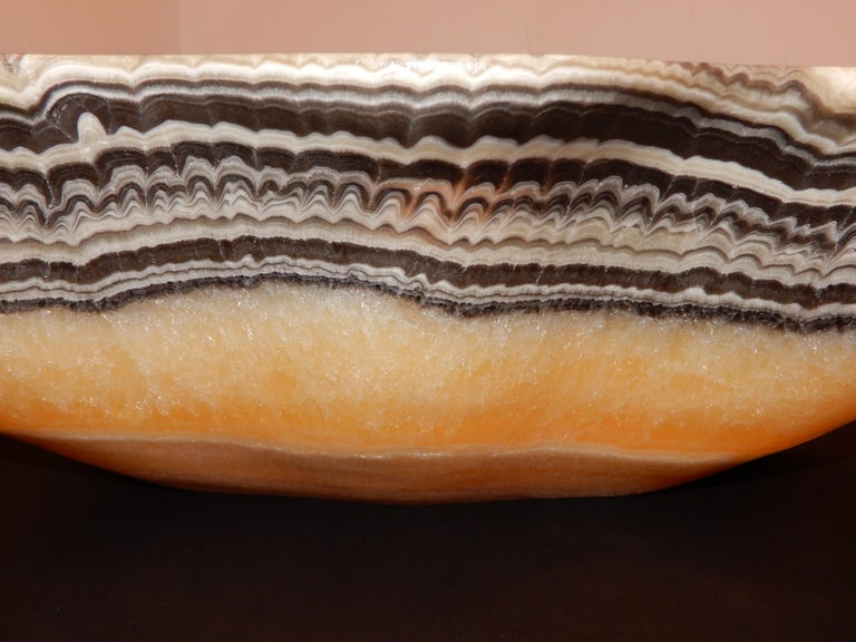 Hand-Crafted Monumental Artisan Onyx Large Bowl or Vessel For Sale