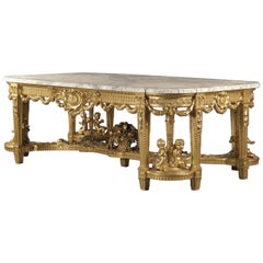 Monumental Louis XVI Style Giltwood Centre Table by François Linke, circa 1914