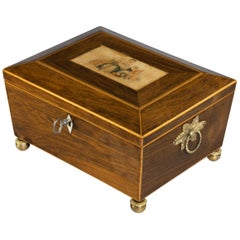 Most Attractive, Early 19th Century Palisander Work Box