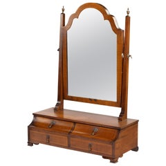 Most Unusual Early 20th Century Mahogany Framed Mirror of Queen Anne Design