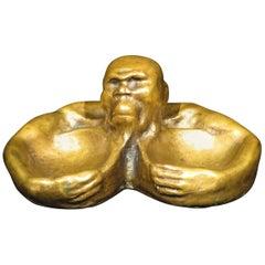 A Most Unusual Figural Bronze Vide Poche, Continental, Circa 1900