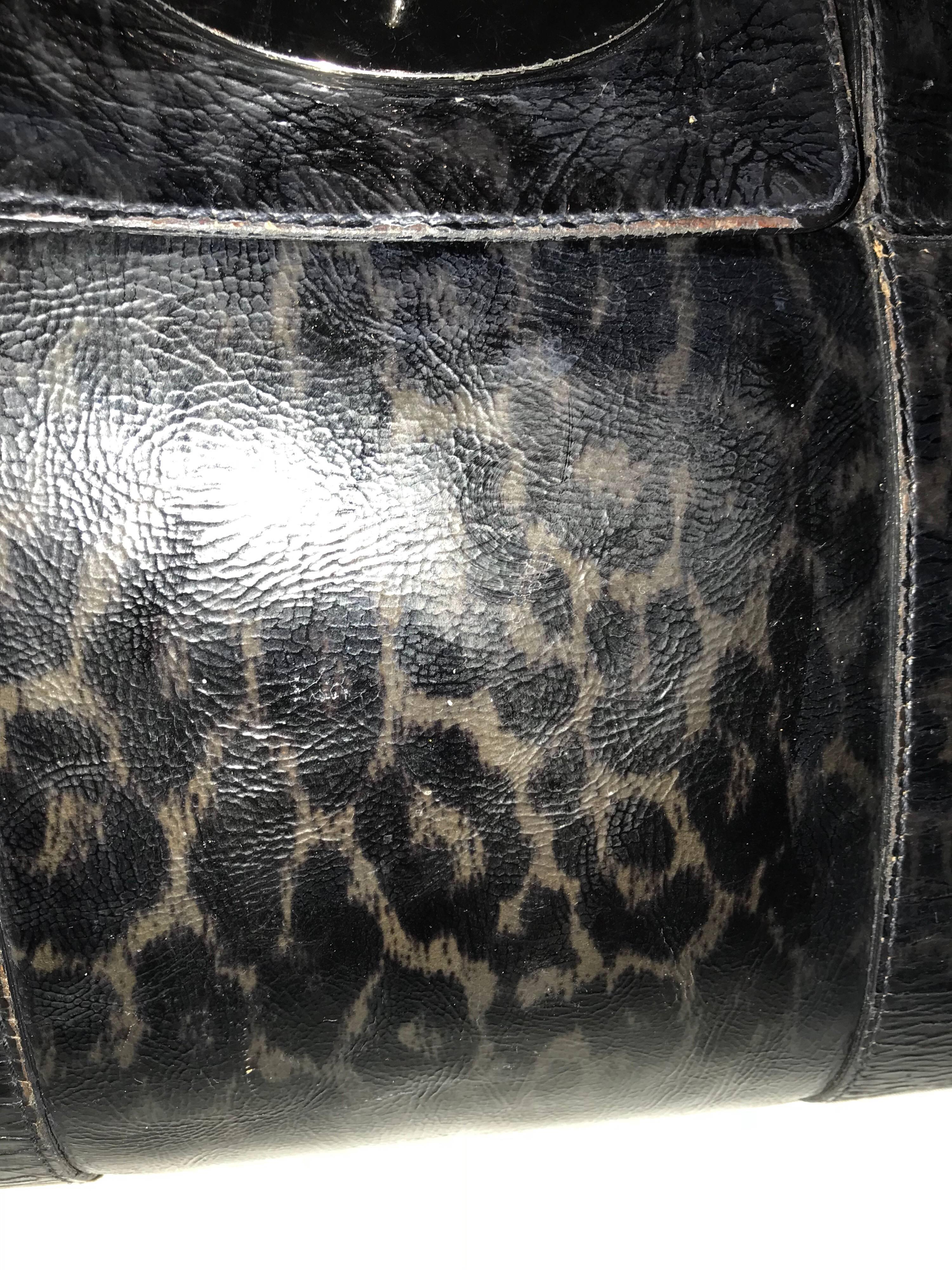 93e5d58d9007 ... ireland a mulberry bayswater satchel bag in leopard print patent leather  tote blue black for sale