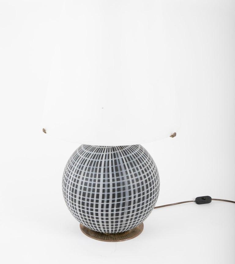 Modern Murano Glass and Brass Lamp Made by La Murrina