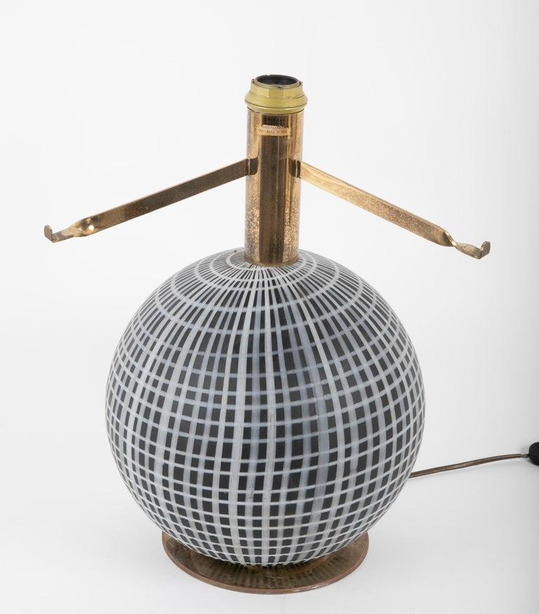 Italian Murano Glass and Brass Lamp Made by La Murrina
