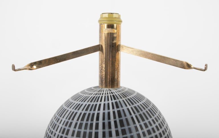 Art Glass Murano Glass and Brass Lamp Made by La Murrina