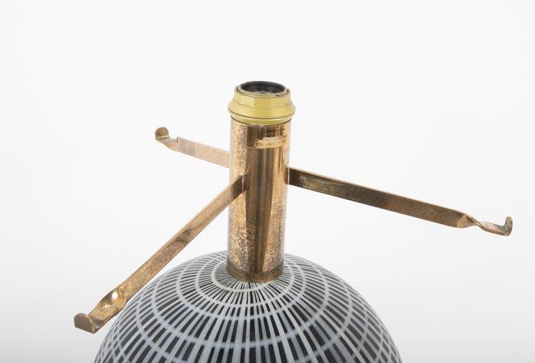Murano Glass and Brass Lamp Made by La Murrina 1