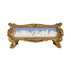 Napoleon III Giltwood and Jasperware Wedgewood Centerpiece Jardinière