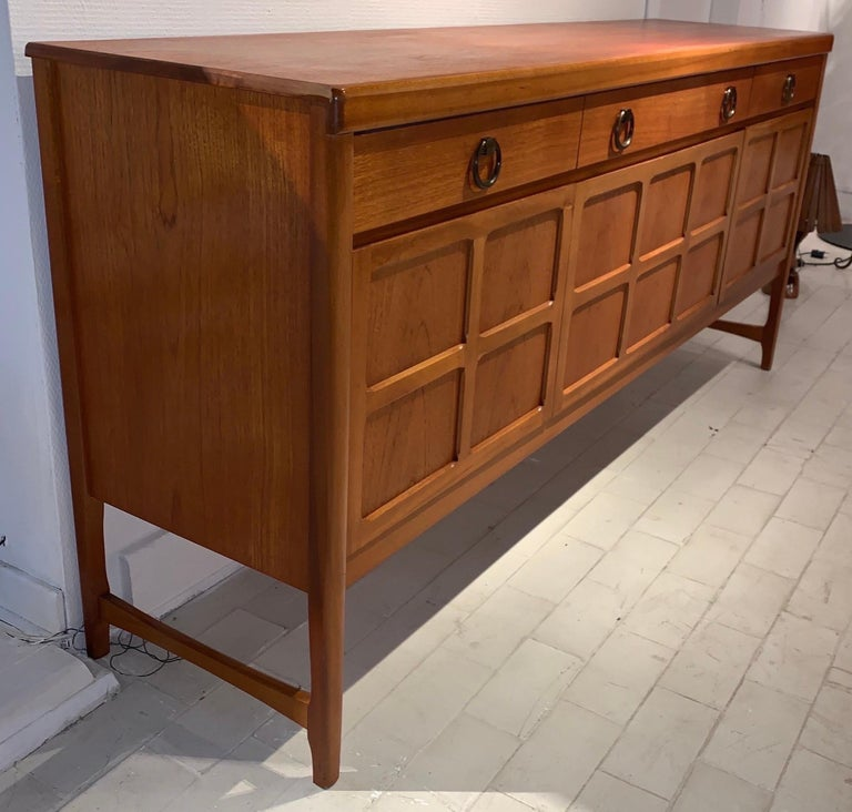Late 20th Century A Nathan Furniture Teak and Brass Sideboard, 1970s