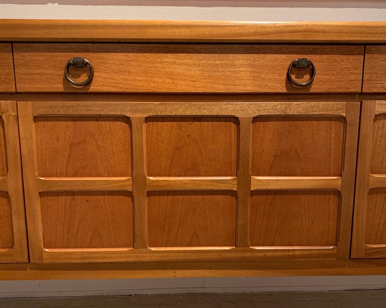 A Nathan Furniture Teak and Brass Sideboard, 1970s 2