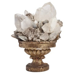 Natural Specimen White Quartz and Rock Crystals, Italy, 1880