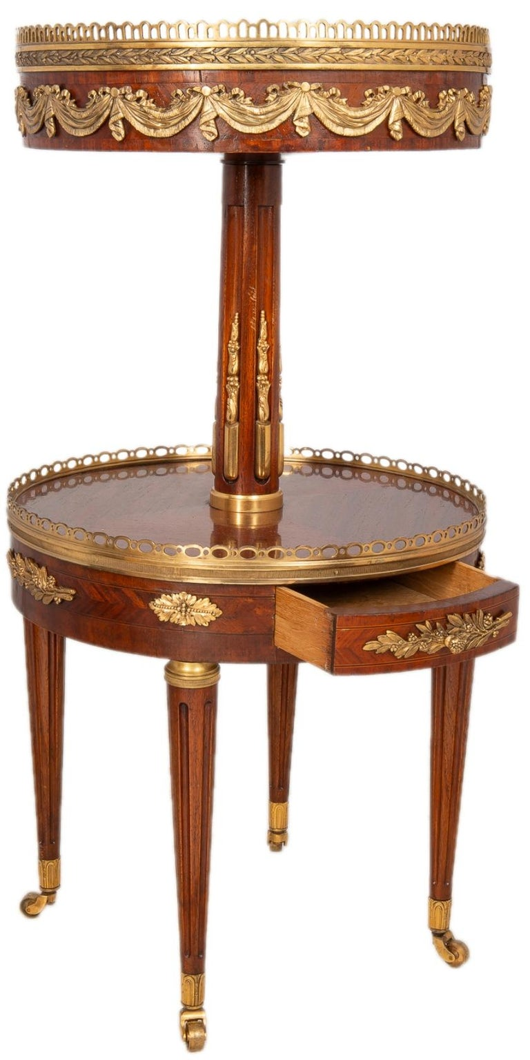 Near Pair of Louis XVI Style Side Tables, circa 1900 For Sale 3