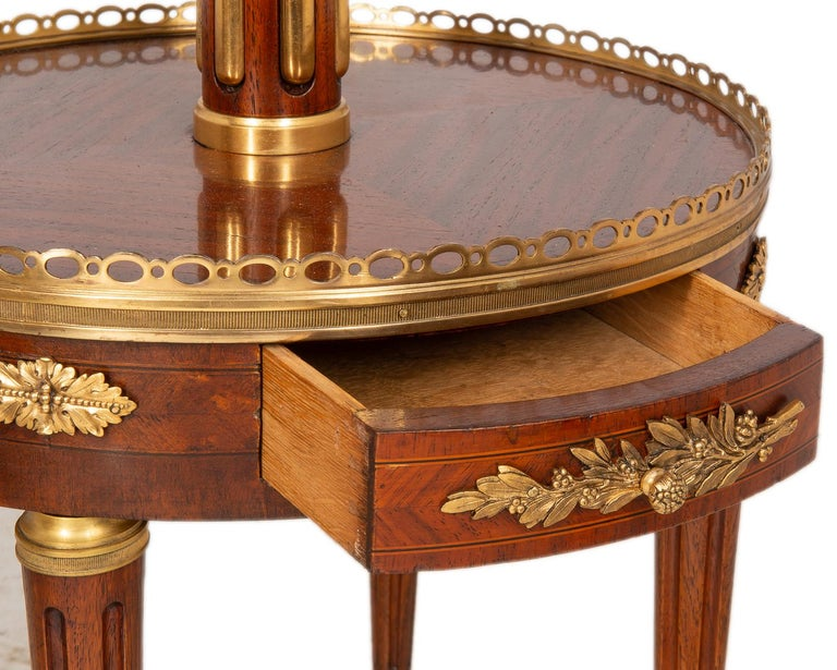 Near Pair of Louis XVI Style Side Tables, circa 1900 For Sale 4