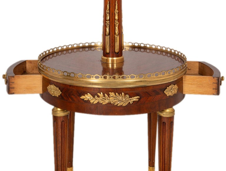 Near Pair of Louis XVI Style Side Tables, circa 1900 For Sale 5