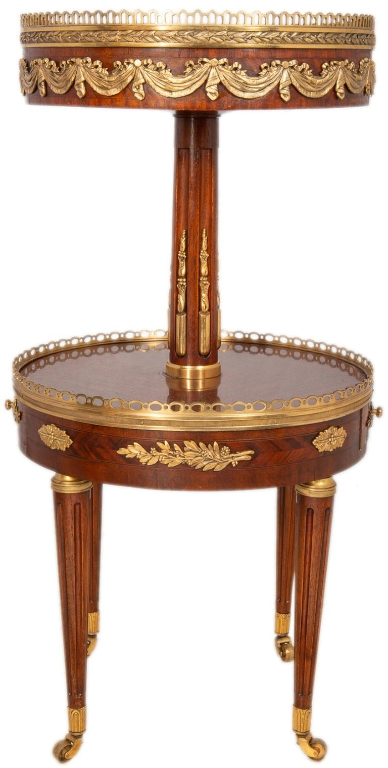 Louis XIV Near Pair of Louis XVI Style Side Tables, circa 1900 For Sale