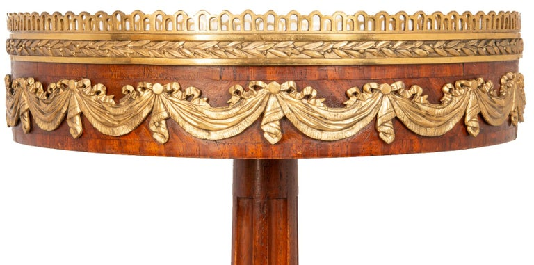 French Near Pair of Louis XVI Style Side Tables, circa 1900 For Sale