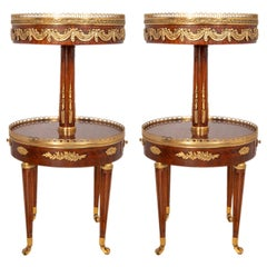 Near Pair of Louis XVI Style Side Tables, circa 1900