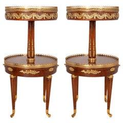 Near Pair of Louis XVI Style Side Tables, circa 1900