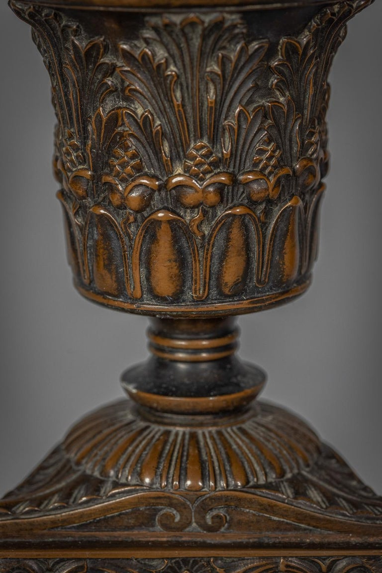 Neo-Classical Style Patinated Bronze Lamp, E.F. Caldwell, Early 20th Century For Sale 2