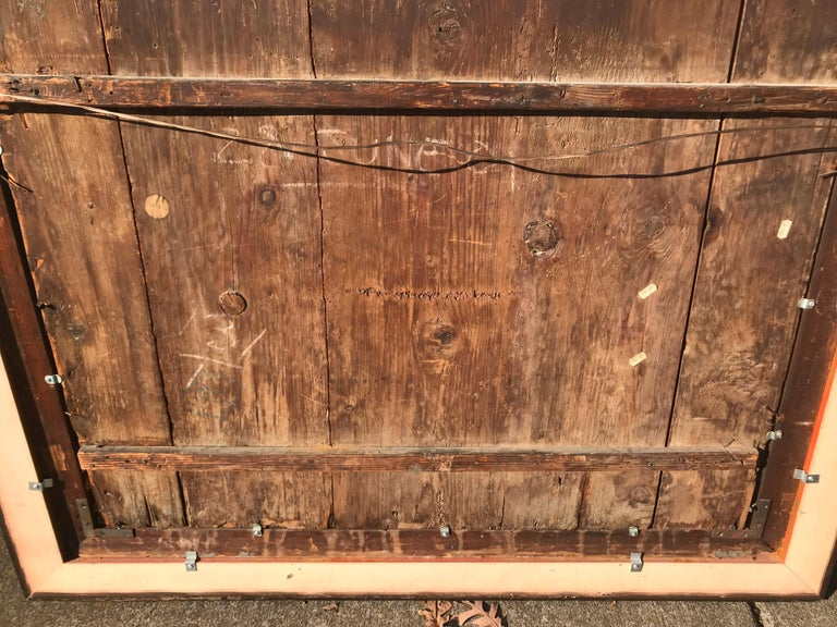 Neoclassical Boiserie Overdoor Painted Panel For Sale 9