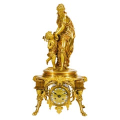 Neoclassical Style Gilt-Bronze Mantel Clock