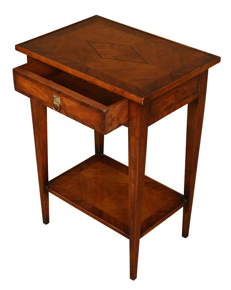 Walnut Neoclassical Style Table For Sale