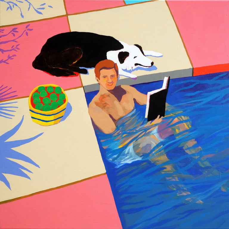 Modern 'A New Chapter' Portrait Painting by Alan Fears Pop Art For Sale