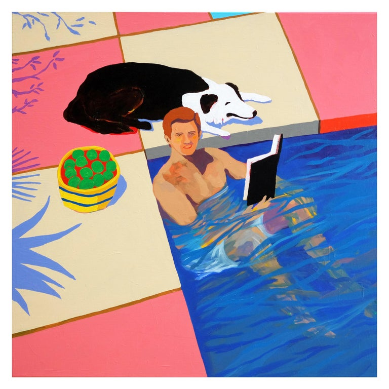 'A New Chapter' Portrait Painting by Alan Fears Pop Art For Sale
