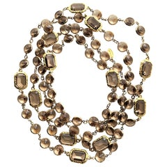 A new long Chicklet necklace like the Chanel, Swarovski crystals gold plated