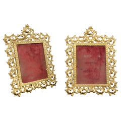 Nice Pair of Early 20th Century Gilt Bronze Picture Frames