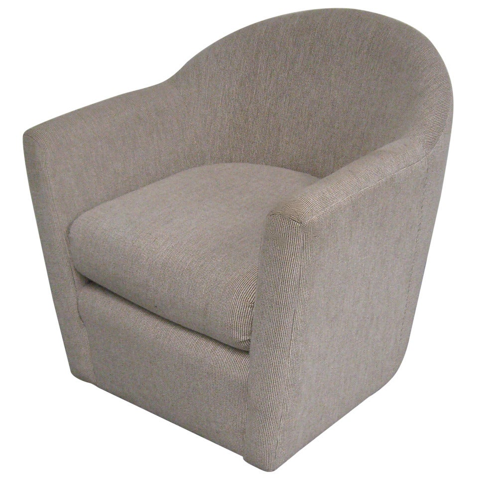 A Swivel Club Chair in the Manner of Harvey Probber
