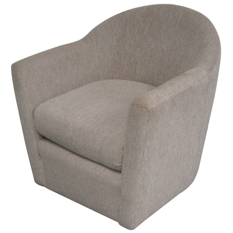 A Swivel Club Chair in the Manner of Harvey Probber For Sale
