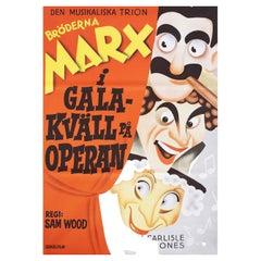 A Night at the Opera R1972 Swedish B1 Film Poster
