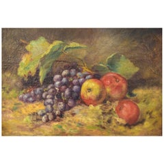 A. Nilsson Sweden, Still Life with Fruits, Oil on Canvas