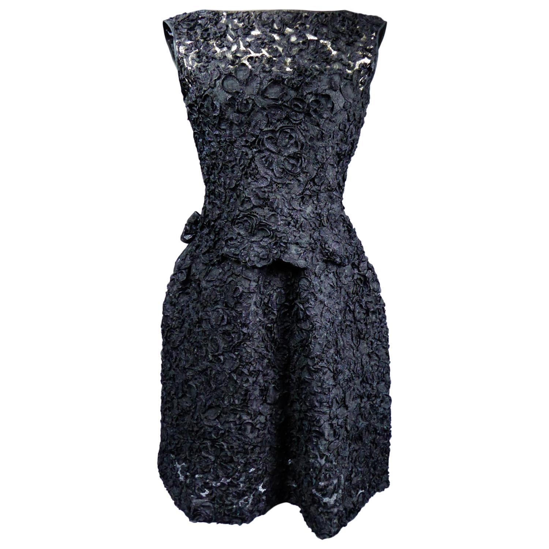 A Nina Ricci Haute Couture Little Black DressCirca 1960