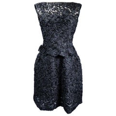 A Nina Ricci Haute Couture Little Black Dress Circa 1960