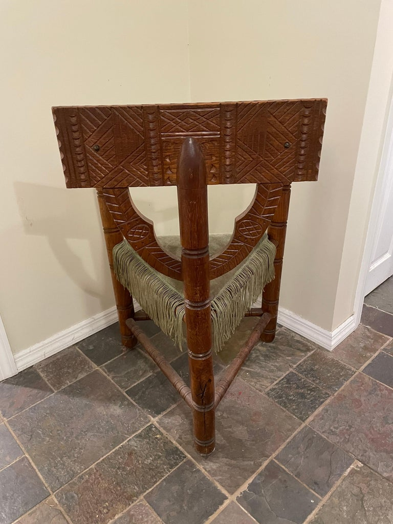 Gothic Revival Norse Revival Armchair For Sale