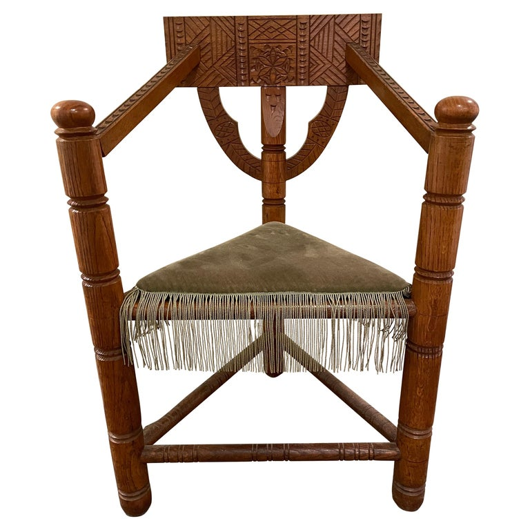 Norse Revival Armchair For Sale