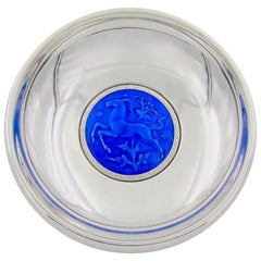 Norwegian Silver and Enamel Art Deco Bowl by Ottar Hval of Oslo