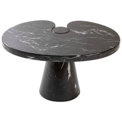 Organic Form Nero Marquina Marble Side Table Designed by Angelo Mangiarotti