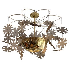 Paavo Tynell Chandelier with Snowflakes Model 9065