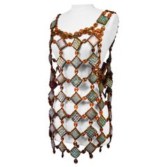 A Paco Rabanne (attributed to) Jewel Dress Tunic Circa 1980