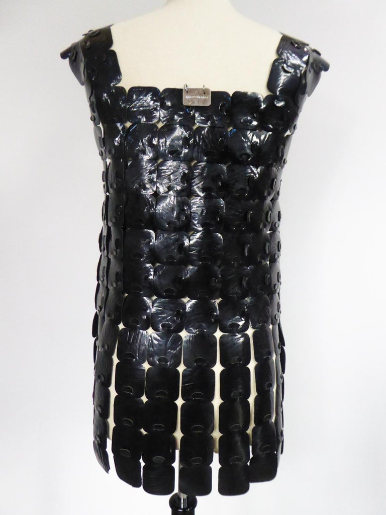 A Vinyl Squared Space Age Robe K From Design Bory Paris Circa 1970 For Sale 5