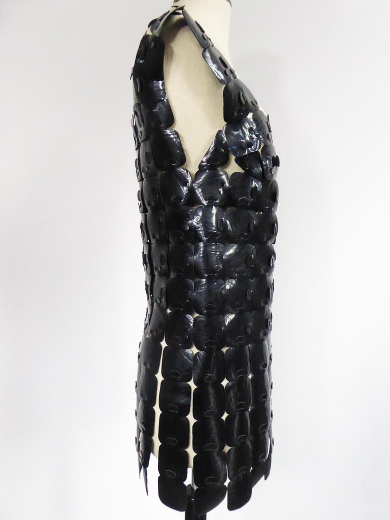 A Vinyl Squared Space Age Robe K From Design Bory Paris Circa 1970 For Sale 4