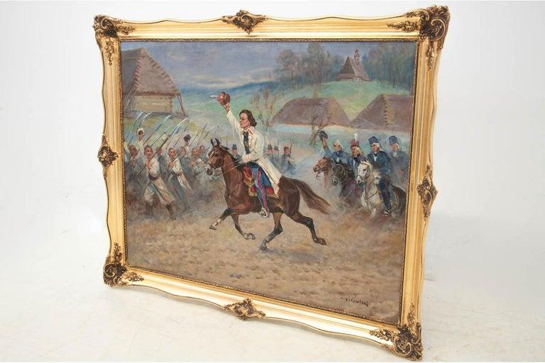 Mid-Century Modern Painting by Władysław Borowicki For Sale